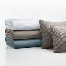 CHANNEL STITCH COVERLET SET